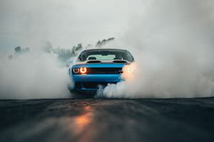 Dodge Challenger Hellcat Orange Eye Wallpaper