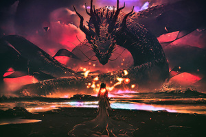 Dragon Goddess Artwork Fantasy