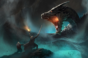Dragon Vs Warrior Artwork