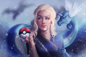 Dragons Daenerys With Pokeball Wallpaper