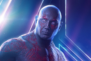Drax In Avengers Infinity War New Poster Wallpaper