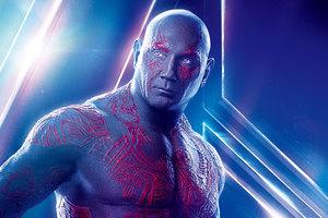 Drax The Destroyer In Avengers Infinity War 8k Poster Wallpaper