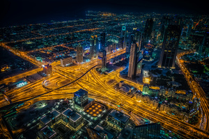 Dubai Building Lights Skycrappers 4k Wallpaper
