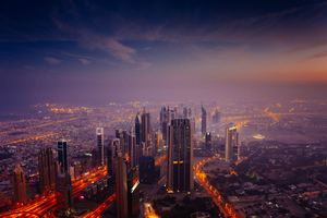 Dubai Sunrise City 5k Wallpaper