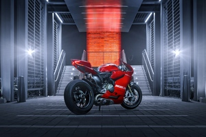 Ducati 1199 Red Wallpaper