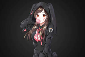 Dva Overwatch Portrait Wallpaper