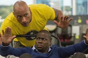 Dwayne Johnson And Kevin Hart In Central Intelligence Wallpaper