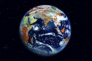 Earth Space Digital Art Wallpaper