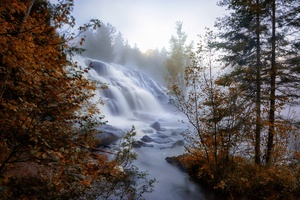 Earth Waterfall Fog
