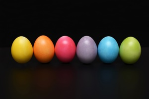Easter Eggs Colorful Wallpaper