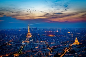 Eiffel Tower France City At Night 5k Wallpaper