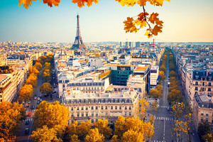 Eiffel Tower Paris City Autumn 4k 5k Wallpaper