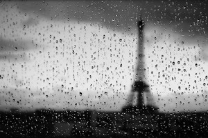 Eiffel Tower Rain Drops