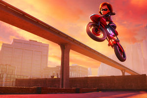 Elastigirl In The Incredibles 2 Movie 4k Wallpaper