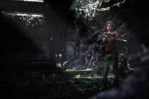 Elle The Last Of Us 3d Art Wallpaper