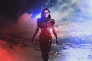Emilia Clarke Mass Effect Andromeda 4k Wallpaper