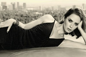 Emily Blunt Black And White