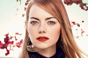 Emma Stone Photshoot For Vogue Wallpaper