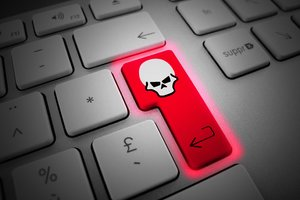 Enter Key Skull Hacking 5k Wallpaper