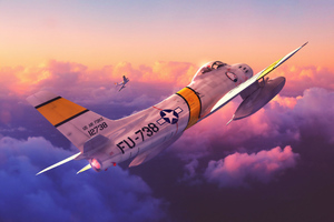 F 86 Sabres Planes Digital Art Wallpaper