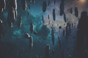 Falling Asteroid Wallpaper