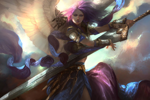 Fantasy Angel Art With Sword