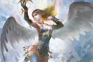 Fantasy Girl With Wings Wallpaper