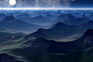 Fantasy Landscape Mountains In Fantasy World 5k Wallpaper