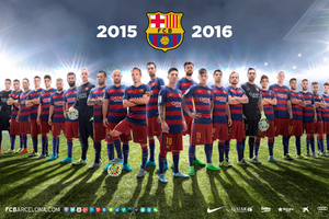FC Barcelona Team 2016 Wallpaper