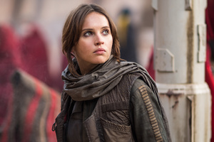Felicity Jones As Jyn Erso In Rogue One Star Wars Wallpaper