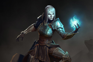 Female Necromancer Diablo III Wallpaper