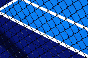 Fence Sports Court Wallpaper