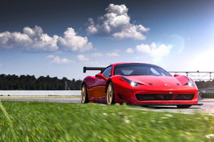 Ferrari 458 Sports Racing Wallpaper