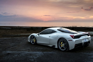 Ferrari 458 White Wallpaper
