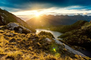Fiordland Mountain Sunrise Wallpaper