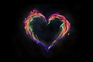 Flame Artistic Heart Love 5k Wallpaper