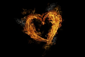 Flame Glowing Heart 5k