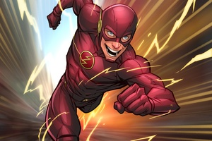 Flash Comic Art Wallpaper