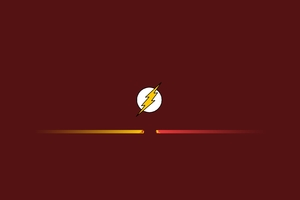 Flash Reverse Flash Minimalist Wallpaper