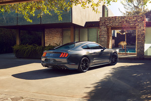 Ford Mustang Silver Cgi Wallpaper