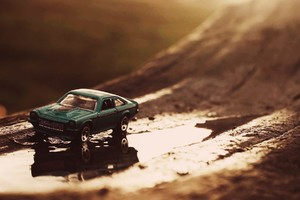 Ford Mustang Toy Macro Wallpaper