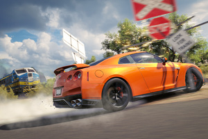 Forza Horizon 3 Nissan Gtr Drift 4k Wallpaper
