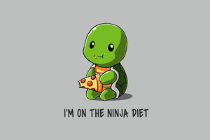 Funny Ninja On Diet Wallpaper