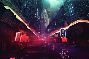 Futuristic City Science Fiction Concept Art Digital Art Wallpaper