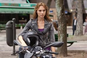 Gal Gadot On Bike