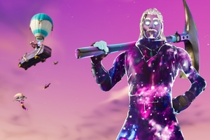Galaxy Man Fortnite Season 6 4K Wallpaper