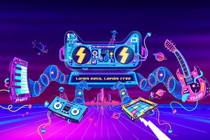 Game Colorful Graphic Illustration Design Wallpaper