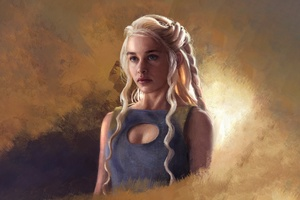 Game Of Thrones Daenerys Targaryen Painting Art Wallpaper