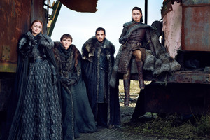 Game Of Thrones Season 7 Bran Stark Sansa Stark Jon Snow Arya Stark