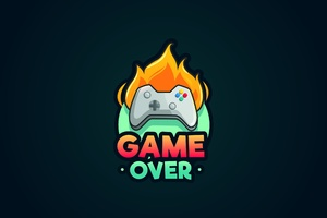 Game Over Minimalist Wallpaper